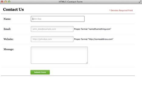 Mise en forme et validation d'un formulaire avec CSS3 & HTML5 | TICE, Web 2.0, logiciels libres | Scoop.it