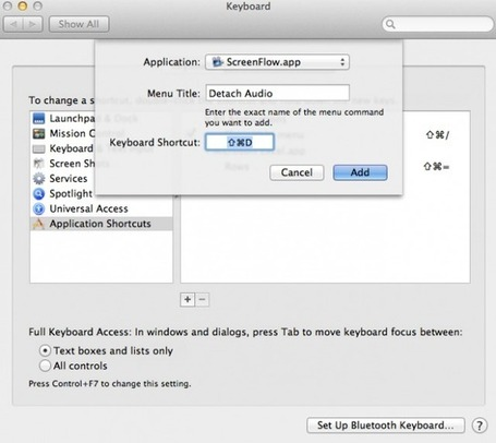 Productivity Tip: Add your own keyboard shortcuts for mac applications! #HDSLRscoop | HDSLR | Scoop.it