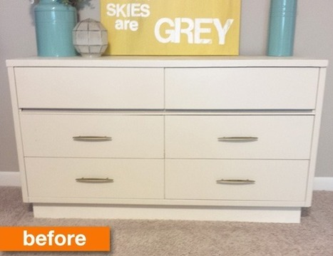 Before & After: A Vintage Dresser Goes From White to Wow ... | QuiteQuainte | Scoop.it