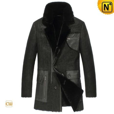 Pittsburgh Mens Black Shearling Coat CW851309 | Leather Blazer Jacket | Scoop.it