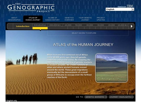 Atlas of the Human Journey - The Genographic Project | Managing the Natural Environment | Scoop.it