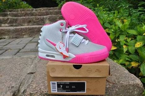 Air Yeezy 2 Wolf Grey/Pink Nike Womens Size Shoes | new and share list | Scoop.it
