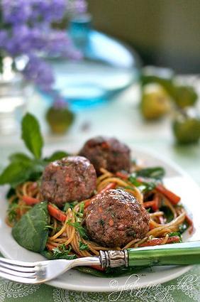 Turkey Meatballs with Asian Style Noodles | Gluten Free | Scoop.it