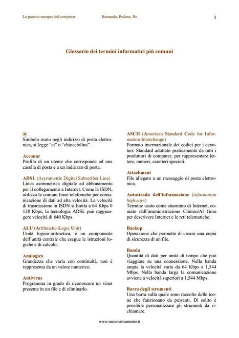 Glossario dei termini informatici più comuni | From the translation's world | Scoop.it