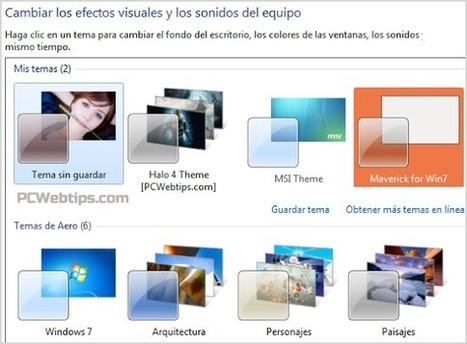 Como instalar temas personalizados para Windows 7 y 8 | PCWebtips.com | Windows PC - Trucos y Tips | Scoop.it