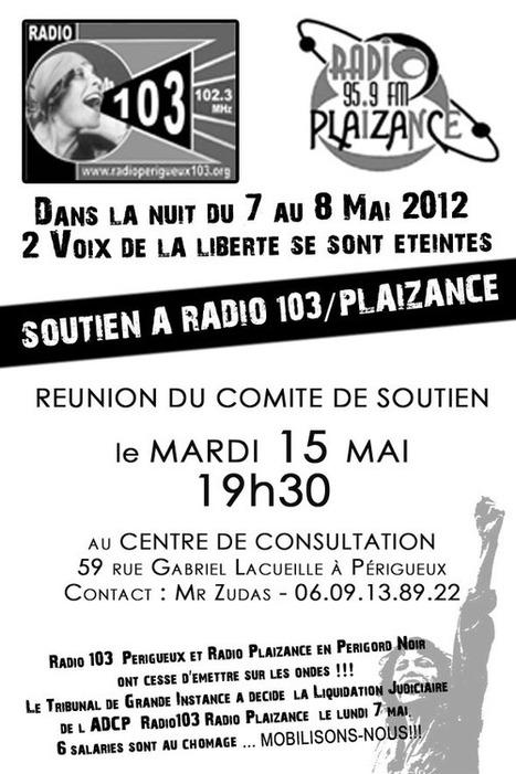 [Nos médias] Soutien à Radio Périgueux 103 & Radio Plaizance ... | broadcast-radio | Scoop.it