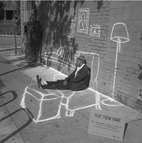 Text Them Home – Street Art Project for the homeless   MAZAMORRA en morada   Scoop.it