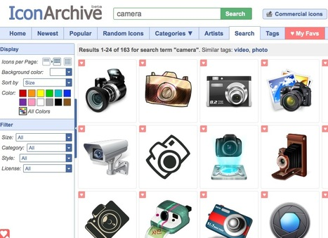 A Huge Curated Library of Quality Icons: The IconArchive | FreeSources for Learners & Learning Designers | Scoop.it