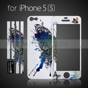 Luminous Embossed Painting White Butterfly Screen Protector for Apple iPhone 5S White - Witrigs.com | Do iphone 5s need screen protectors | Scoop.it