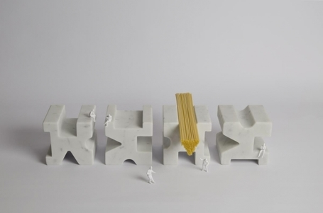 Marble Spaghetti Measure by Studio Lievito | GBlog | What Surrounds You | Scoop.it