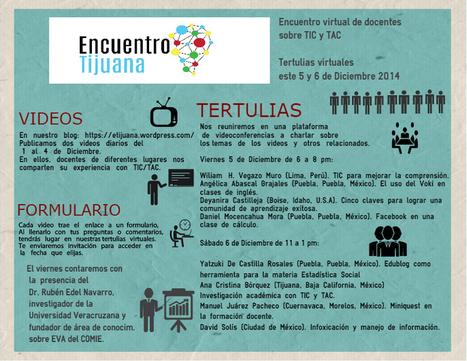 Encuentro virtual de docentes TIC/TAC 5 y 6 de Diciembre | Lea para que no se aburra | Scoop.it