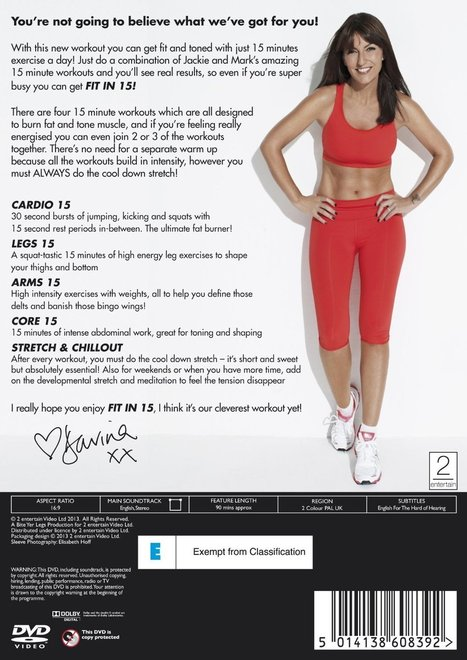 Davina - Fit In 15 DVD Review ~ Exercise Equipment Reviews | Useful Product Reviews | Scoop.it