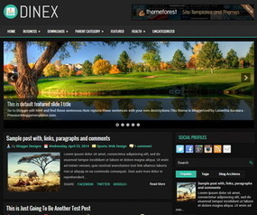 Dinex Blogger Template | Blogger Templates | Scoop.it