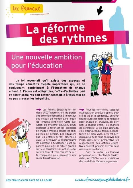 Francas des Pays de la Loire - La réforme des rythmes: une nouvelle ambition pour l'éducation | Rythmes scolaires, rythmes éducatifs, projet éducatif local | Scoop.it