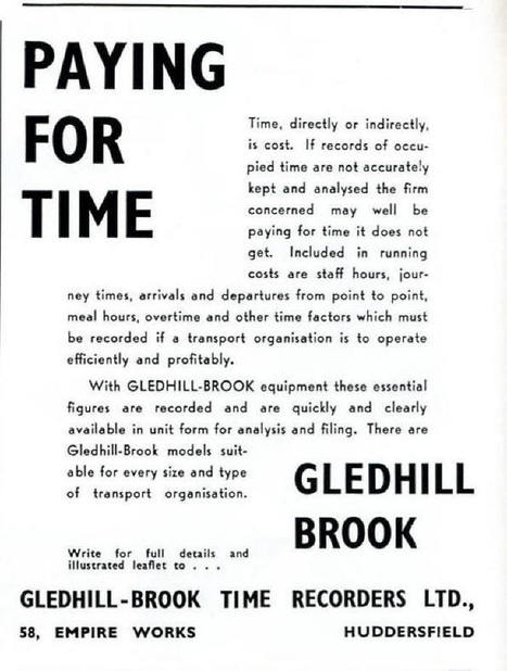 WGLEDHILL BROOK1956Advert1373.jpg (700x926 pixels)   Time and Motion   Scoop.it