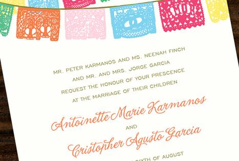 Pretty wedding invitation | papel picado | Scoop.it