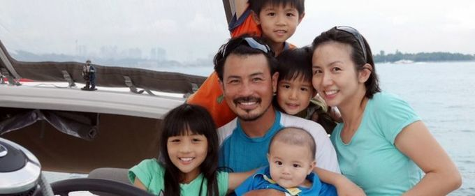Actor Darren Lim to embark on year-long voyage on boat with wife, four kids