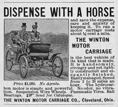 The first car ad, 1898 | GenealoNet | Scoop.it
