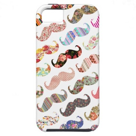 Funny Girly Colorful Patterns Mustaches iPhone 5 Covers | social media123 | Scoop.it