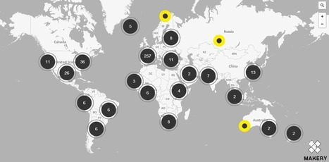 Carte des labs - Makery info | Sur les chemins de la transition - Voyage en Hétérotopies | Scoop.it