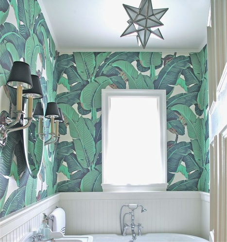 july's year of change designer challenge: banana leaf wallpaper! | Interior Wallpaper | Scoop.it