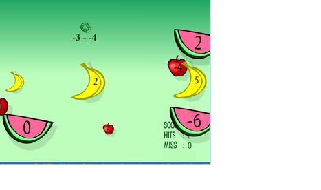 Math Games: Fruit Shoot Integer Subtraction   sjm negnum   Scoop.it