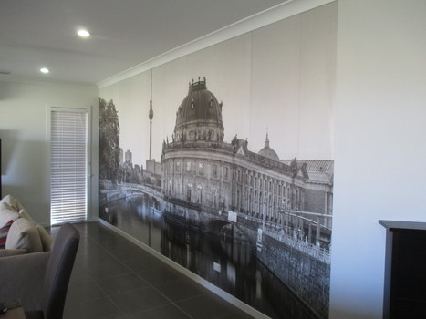 Black &amp; White Wall Mural Installation - Brisbane<br/>Our client is German and&hellip; | Interior Wallpaper | Scoop.it