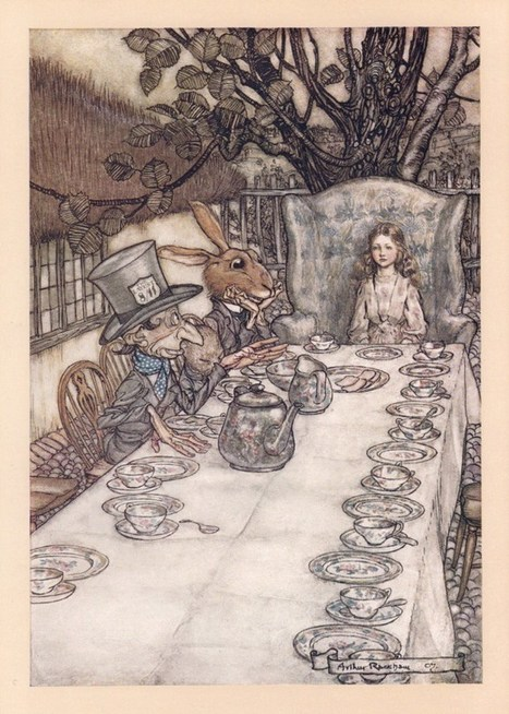 How Arthur Rackham's 1907 Drawings for Alice in Wonderland Revolutionized the Carroll Classic, the Technology of Book Art, and the Economics of Illustration | CLOVER ENTERPRISES ''THE ENTERTAINMENT OF CHOICE'' | Scoop.it