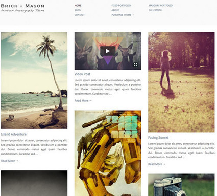 50 WordPress Themes for Photographers | Image Conscious | Scoop.it