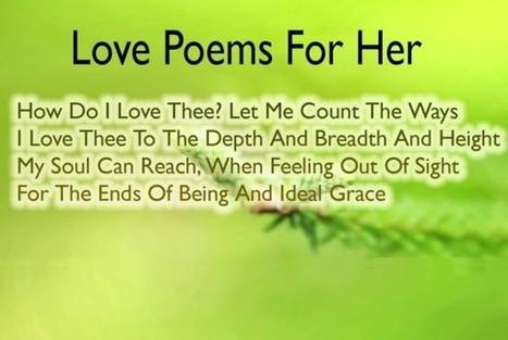 20+ Best Sweet and Romantic Love Poems For Her | Envirocivl | Scoop.it