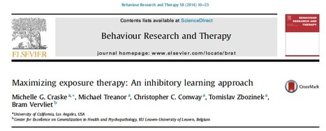 Maximizing exposure therapy: An inhibitory learning approach | Papers on Emotion regulation and Emotional disorders -  Articles sobre Regulació emocional i trastorns emocionals | Scoop.it
