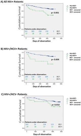 Survival and HLA-B*57 in HIV/HCV Co-Infected Patients on Highly Active Antiretroviral Therapy (HAART) | Hepatitis C New Drugs Review | Scoop.it