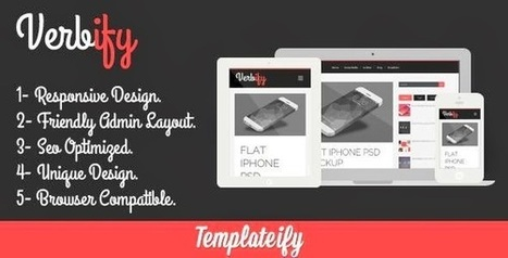 Verbify Responsive Blogger Template | Free Download Template | Scoop.it