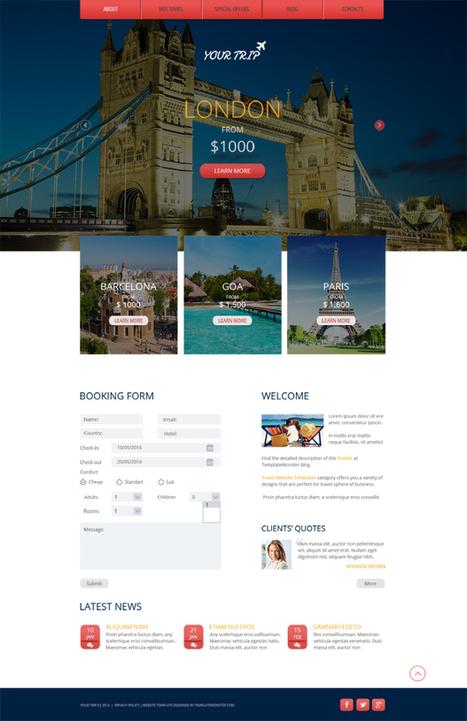 GRATIS: Plantilla Adaptable HTML5 para Agencia de Viajes | www ... | PLE DWEC | Scoop.it