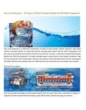 Easycool Enterprise - All Types of Soda Fountain Machine & Soft Drink Equipment | easycool | Scoop.it