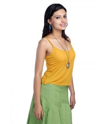 Buy Yellow Camisole Online at UPTOWNGALERIA Rs 199 only | online shopping for tops | Scoop.it