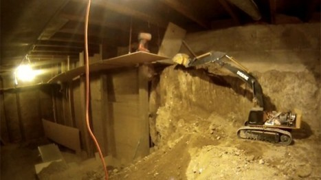 Guy Spends 9 Years Digging His Basement with Remote-Controlled Earthmovers | Strange days indeed... | In Today's News of the Weird | Scoop.it