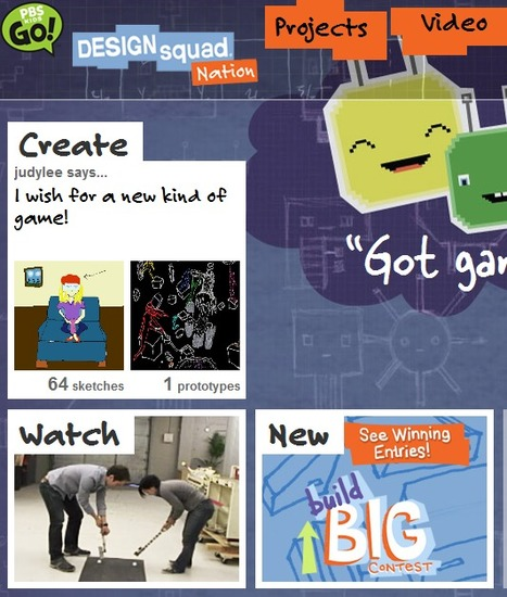 DESIGN SQUAD NATION . Home | PBS KIDS GO! | STEM Learning Tools & Resources | Scoop.it