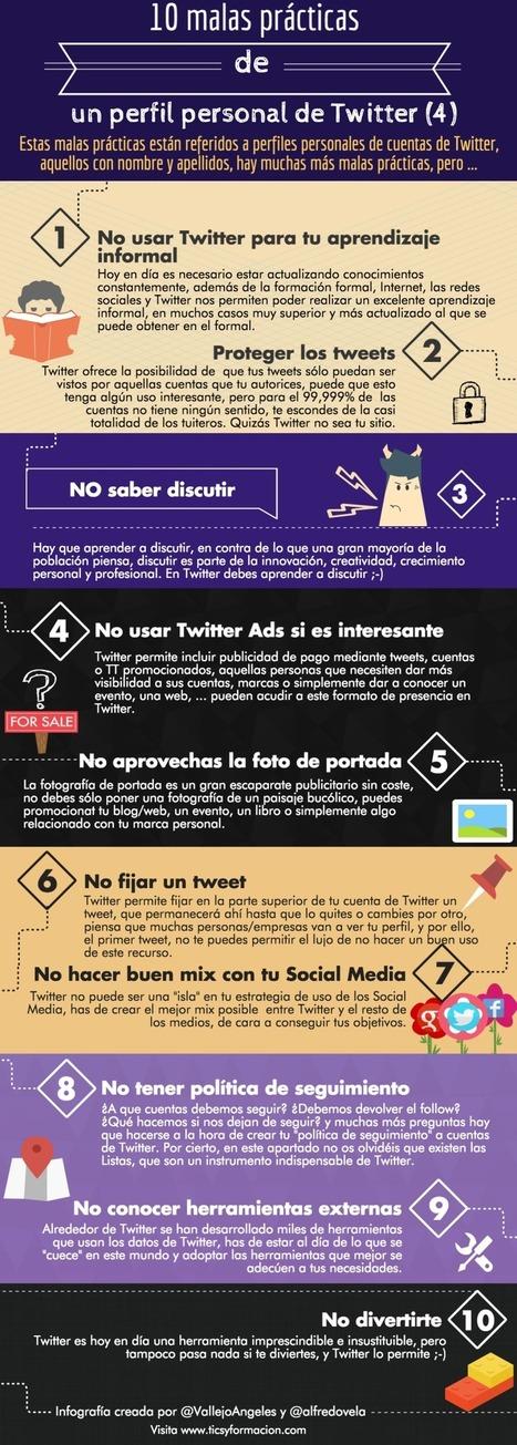 10 malas prácticas de un perfil personal de Twitter.   COMUNICACIONES DIGITALES   Scoop.it