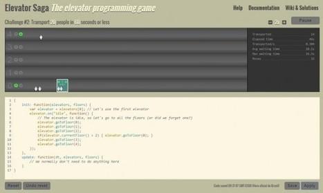 Elevator Saga, el juego de programación online para diseñar un ascensor   Entorns Virtuals d'Aprenentatge i Recursos Educatius WEB 2.0   Scoop.it