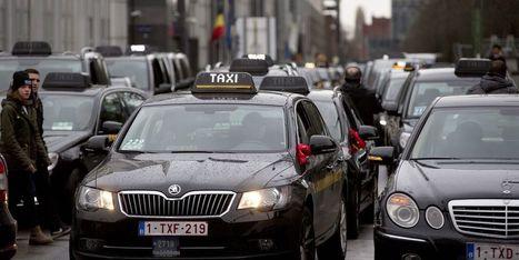 Plus de 600 taxis mobilisés contre Uber à Bruxelles | Economie publique | Scoop.it