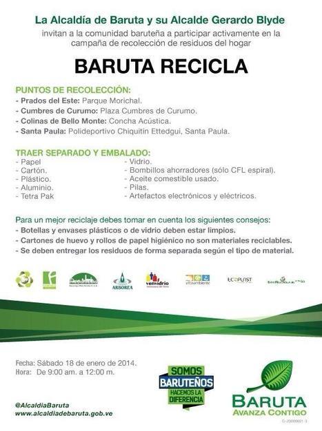 #MuyBien #Gracias… #Baruta #Recicla @AlcaldiaBaruta invitan a participar este sábado 18/01 | Caracasos | Scoop.it