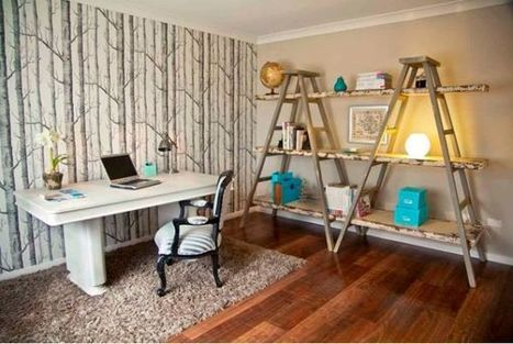 Ladders, an unexpected interior décor element with lots of versatility | Designing Interiors | Scoop.it