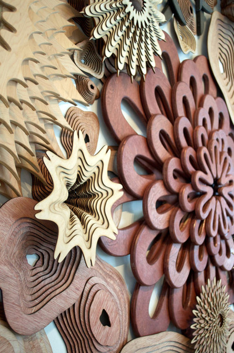 See Life: Layered Wooden Sculptures Inspired by Reefs - Design Milk | Céka décore | Scoop.it