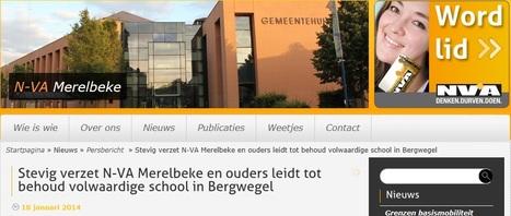 N-VA 18/10/2014 - Stevig verzet N-VA Merelbeke en ouders leidt tot behoud volwaardige school in Bergwegel   GILKO OP DE FOTO   Scoop.it