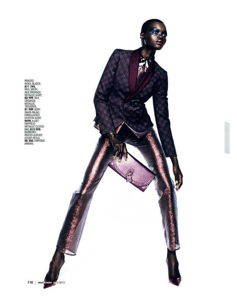 Aluad Deng Anei Suits Up for Marie Claire South Africa's April Issue   BACK TO NEW AFRICA !   Scoop.it