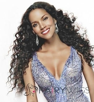 Chic Long Curly Sepia African American Lace Wigs for Women : fairywigs.com | African American Wigs | Scoop.it