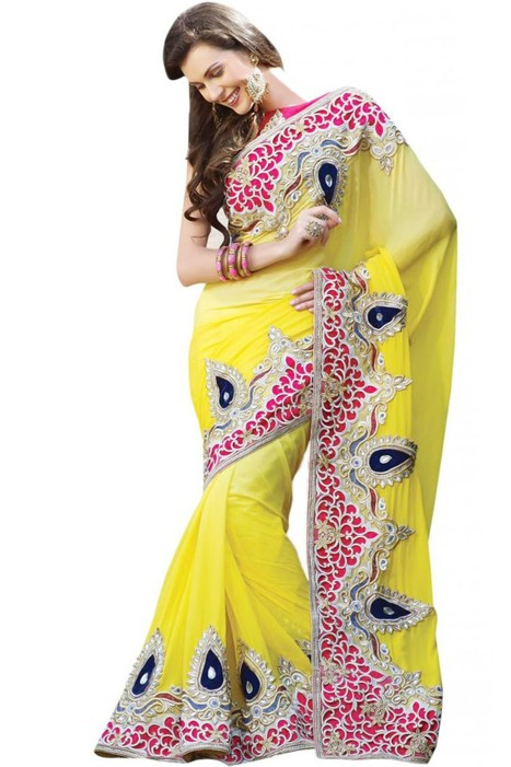 Triveni Classy Extensive Bordered Embroidered Indian Designer Wedding | Online Shopping | Scoop.it