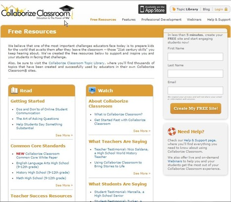 Collaborize Classroom: Free Resources and Lesson Plans for Teachers | 21st Century Literacy and Learning | Scoop.it