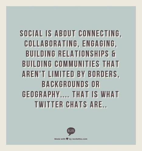 How do you build relationships & engage on twitter? Join these twitter chats! | Twitter & LinkedIn Resources | Scoop.it